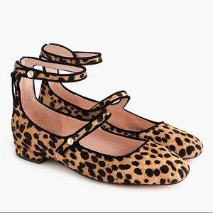 J.Crew Poppy leopard ballet flat sz 8